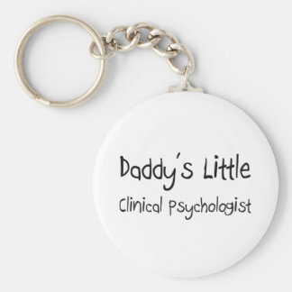 Daddy's Little Clinical Psychologist Basic Round Button Key Ring