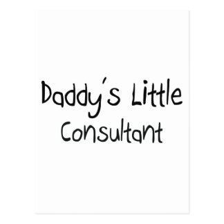 Daddy's Little Consultant Postcard