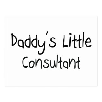 Daddy's Little Consultant Post Cards