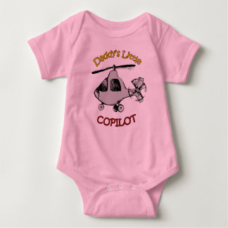 Daddy's Little Copilot (Helicopter) Baby Bodysuit