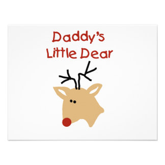 Daddy's Little Dear Tshirts and Gifts Custom Invitation