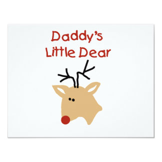 Daddy's Little Dear Tshirts and Gifts Custom Invitation