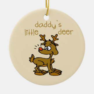 Daddy's Little Deer Christmas Ornament