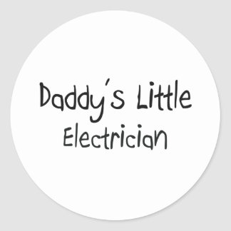 Daddy's Little Electrician Classic Round Sticker