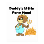 Daddy's Little Farm Hand Tshirts and Gifts Post Card