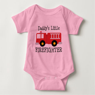 Daddys Little Firefighter Baby Bodysuit