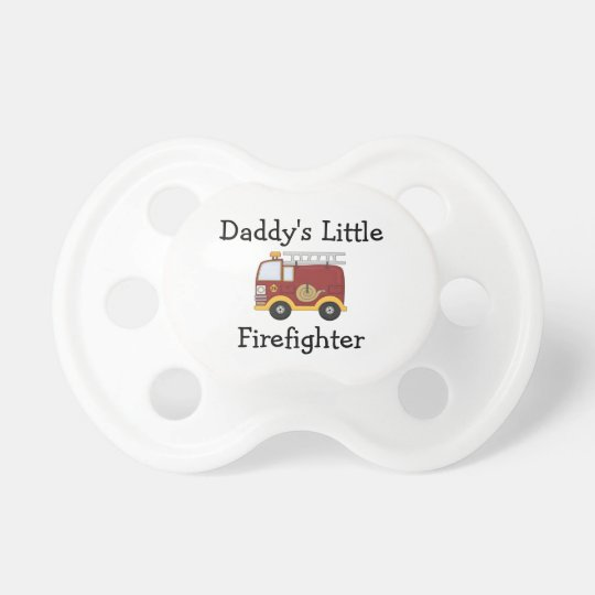 Daddy's Little Firefighter Baby Pacifier