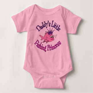 Daddy's Little Fishing Princess Baby Bodysuit