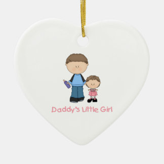Daddy's Little Girl (2) Ceramic Heart Decoration