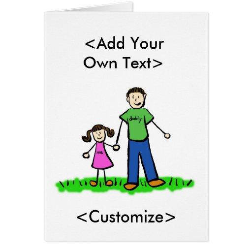 Daddy's Little Girl Custom Family Greeting Cards