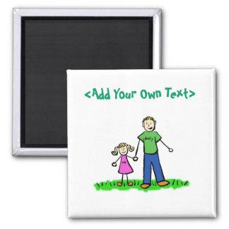 Daddy's Little Girl Custom Gift Magnet (Blond)