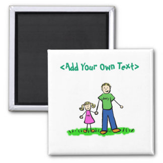 Daddy's Little Girl Custom Gift Magnet (Blonde)