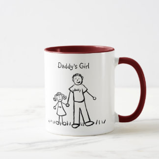 Daddy's Little Girl Drawing Mug (Customize)