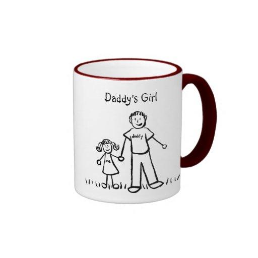 Daddy's Little Girl Drawing Mug (Customize)