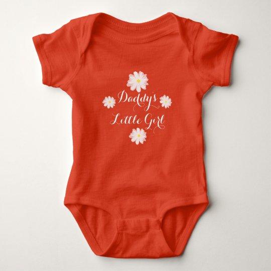 Daddys little girl flower one piece baby bodysuit