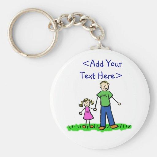 Daddy's Little Girl Keychain (Blond)