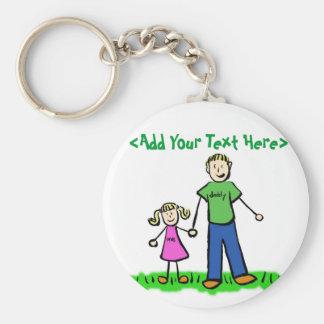 Daddy's Little Girl Keychain (Blonde)