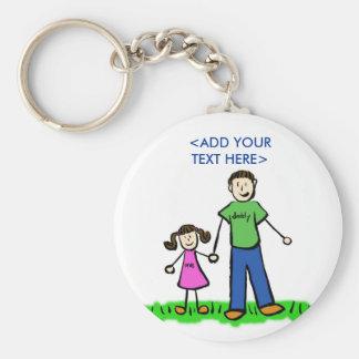 Daddy's Little Girl Keychain (Brunette)