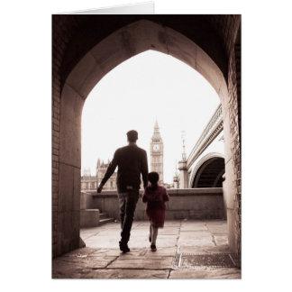 Daddy's Little Girl - London - Big Ben Card