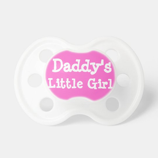Daddy's Little Girl Pacifiers Hot Pink Binky