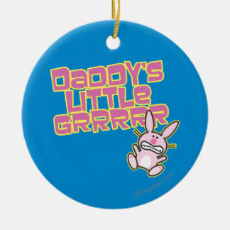 Daddy's Little Girl Round Ceramic Decoration