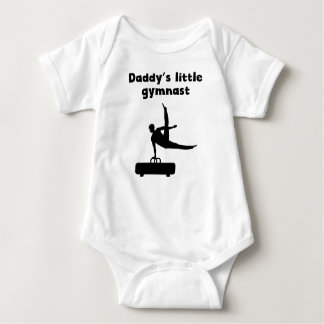 Daddy's Little Gymnast Baby Bodysuit