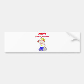 Daddy's Little Helper Bumper Sticker