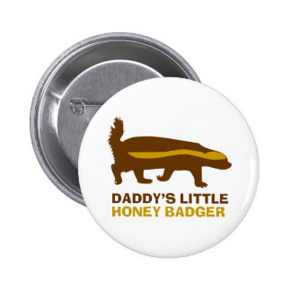 Daddy's Little Honey Badger 6 Cm Round Badge