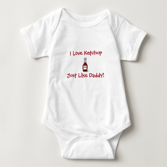 DADDY'S LITTLE KETCHUP BABY SILLY FUN CUTE BABY