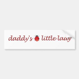 Daddy's little lady bumper sticker
