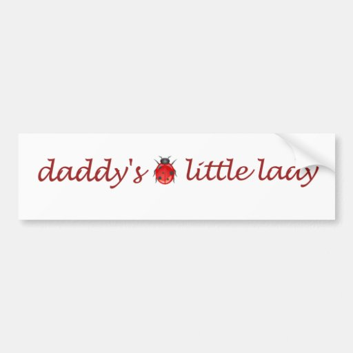Daddy's little lady bumper stickers