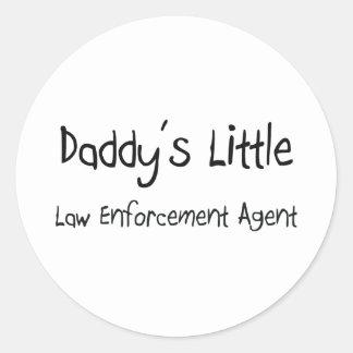 Daddy's Little Law Enforcement Agent Sticker