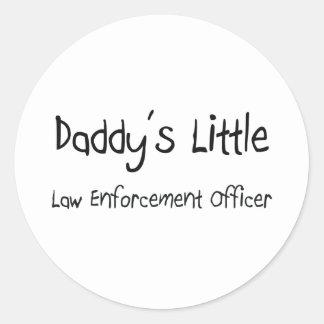 Daddy's Little Law Enforcement Officer Round Sticker