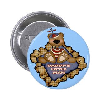 Daddys Little Man 6 Cm Round Badge