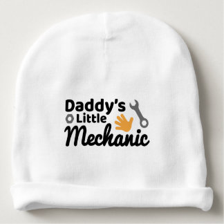 Daddy's Little Mechanic Cotton Beanie Baby Beanie