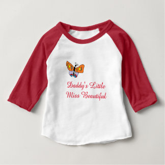 Daddy's Little Miss Beautiful Baby T-Shirt