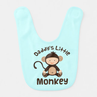Daddy's Little Monkey Baby Boy Bib