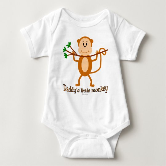 Daddy's Little Monkey baby s & t-shirts