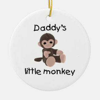 Daddy's Little Monkey Christmas Ornaments