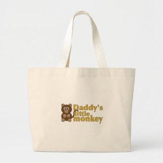 Daddy's little monkey jumbo tote bag