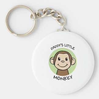 Daddy's Little Monkey Key Ring