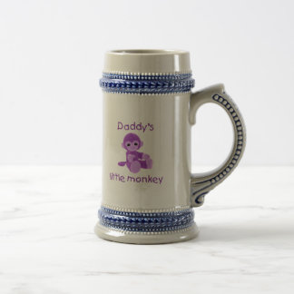 Daddy's Little Monkey (purple) Beer Stein