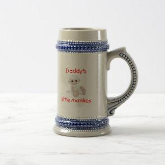 Daddy's Little Monkey (red) Coffee Mugs