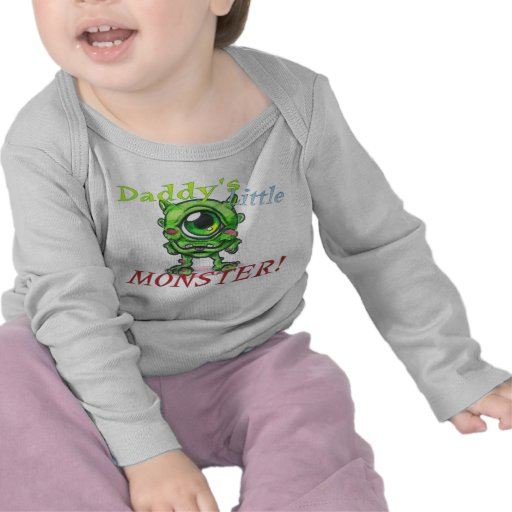 Daddy's Little Monster Baby Shirt