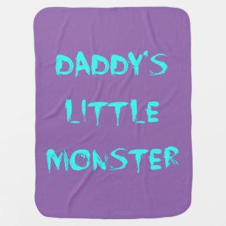 Daddy's Little Monster Blanket Blue/Purple Baby Blankets