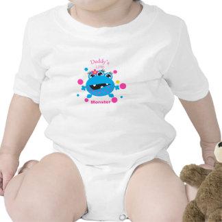 Daddy's Little Monster Blue Infant Creeper