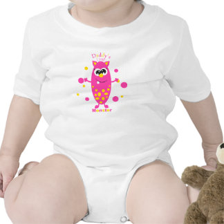 Daddy's Little Monster Pink Infant Creeper