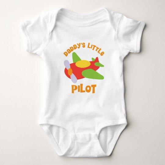 Daddy's Little Pilot Aeroplane Baby Bodysuit