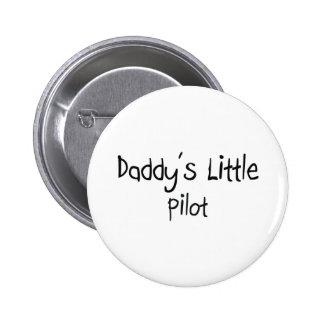 Daddy's Little Pilot 6 Cm Round Badge