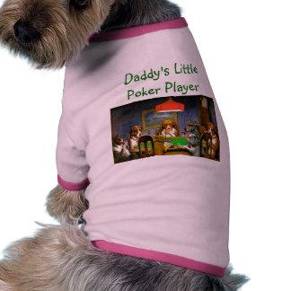 Daddy's Little Poker Player Pet T-shirt